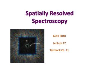 Spatially Resolved Spectroscopy