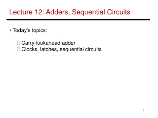 Sequential circuit blocks