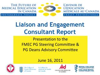 Liaison and Engagement Consultant Report