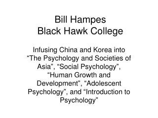 Bill Hampes Black Hawk College