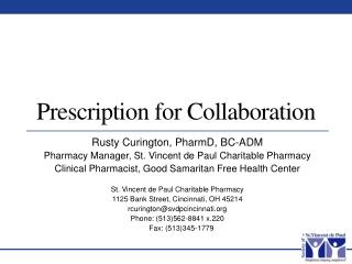Prescription for Collaboration