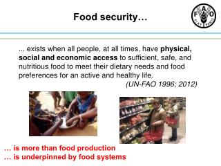 Food security…