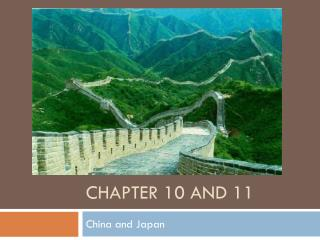 Chapter 10 and 11