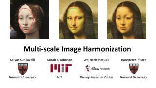 Multi-scale Image Harmonization