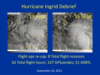Hurricane Ingrid Debrief