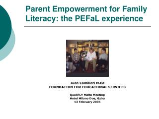 Parent Empowerment for Family Literacy: the PEFaL experience