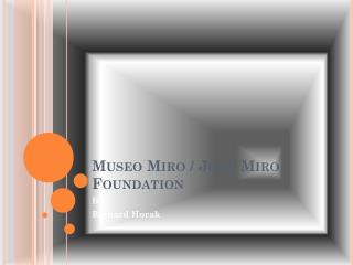 Museo  Miro / Joan Miro Foundation