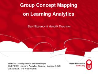 Group Concept Mapping  o n Learning Analytics