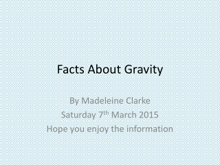 Facts About Gravity