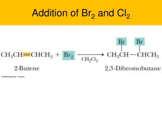 Addition of Br 2  and Cl 2
