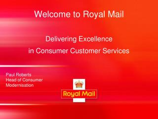 Welcome to Royal Mail