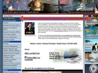 Go to:   http :// med.navy.mil/sites/nmlc/Pages/default.aspx   and click on Home (MIL/GOVT)