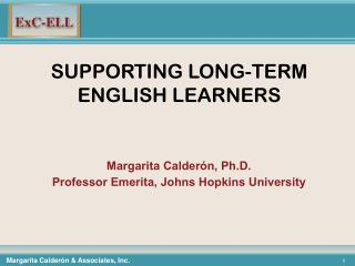 SUPPORTING LONG-TERM ENGLISH LEARNERS