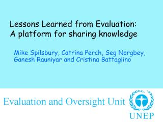 Lessons Learned from Evaluation:  A platform for sharing knowledge