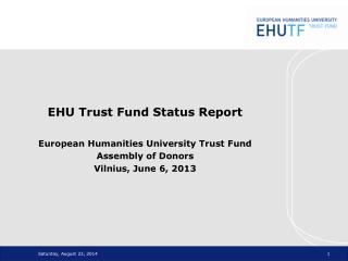 EHU Trust Fund Basics
