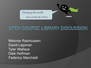 Open Course Library Discussion