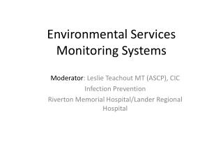 Environmental Services Monitoring Systems