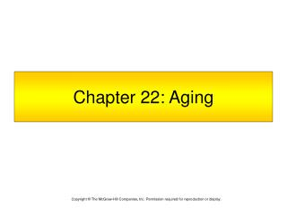 Chapter 22: Aging