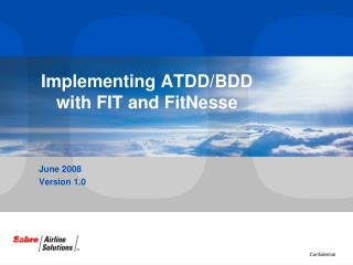 Implementing ATDD/BDD with FIT and FitNesse