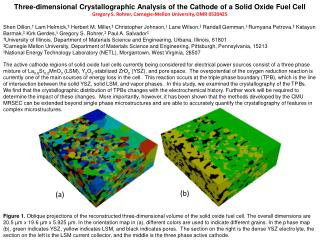 Three-dimensional Crystallographic Analysis of the Cathode of a Solid Oxide Fuel Cell
