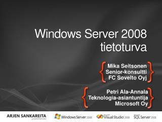 Windows Server 2008 tietoturva
