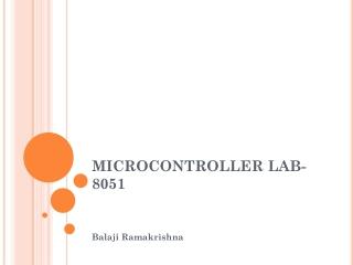 Microcontroller 68HC12
