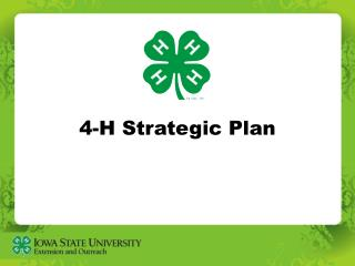 4-H Strategic Plan