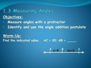 1.3 Measuring Angles