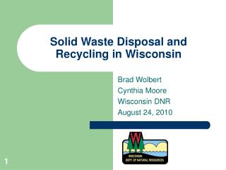 Solid Waste Disposal and Recycling in Wisconsin