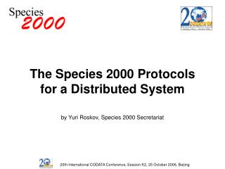 The Species 2000 Protocols for a Distributed System