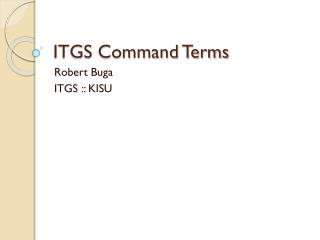 ITGS Command Terms