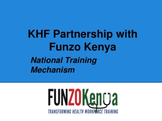 Funzo Kenya- Case Study of a Proposed PPP in Kenya's Health