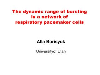 The dynamic range of bursting in a network of  respiratory pacemaker cells