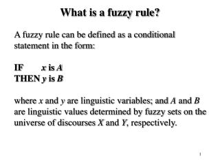 What is a fuzzy rule?