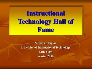 Instructional Technology Hall of Fame