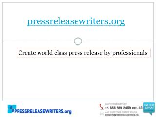 Professional Assistance of Press Release Writers
