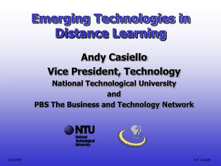 Emerging Technologies in Distance Learning
