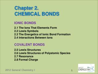 Chapter 2. CHEMICAL BONDS