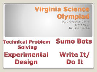 Virginia Science Olympiad