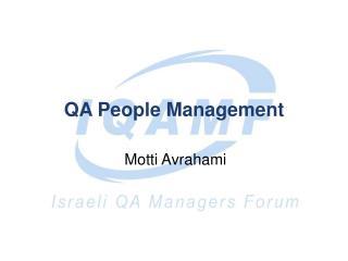 QA People Management