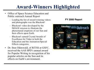 Award-Winners Highlighted