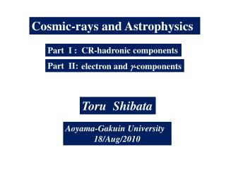 Cosmic-rays and Astrophysics