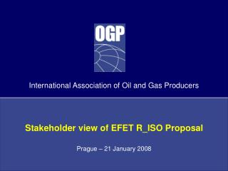 Stakeholder view of EFET R_ISO Proposal