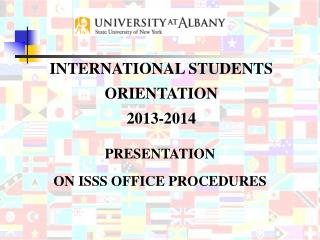 PRESENTATION  ON ISSS OFFICE PROCEDURES