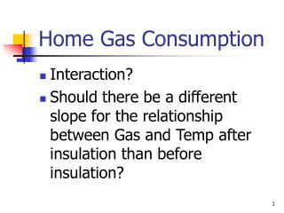 Home Gas Consumption
