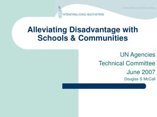 Alleviating Disadvantage with Schools & Communities