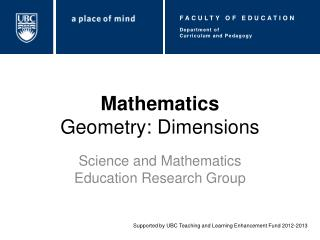Mathematics Geometry: Dimensions