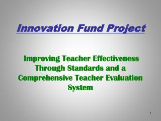 Innovation Fund Project