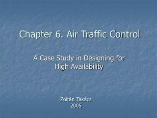 Chapter 6. Air Traffic Control