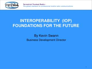 INTEROPERABILITY  (IOP) FOUNDATIONS FOR THE FUTURE